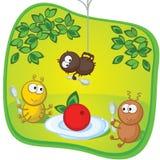 甲虫漫画滑稽的午餐 库存照片