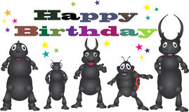 从甲虫的生日快乐 库存图片