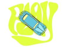 甲虫蓝色汽车 免版税库存照片
