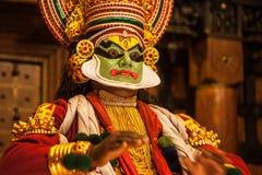 申请面孔构成的Kathakali执行者 图库摄影