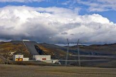 电与氢结合的工厂次幂 图库摄影