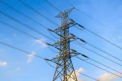 电传输塔,曼谷泰国 库存图片