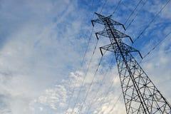 电传输塔 库存照片