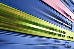 电信互联网设备,快速的数据中心 免版税库存照片