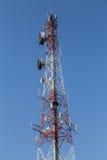 电信帆柱 库存照片