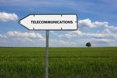 电信-与词与题目通讯技术相关,词,图象,例证的图象 库存图片