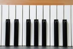 电关键字钢琴 免版税库存图片