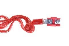 电力与接线盒的配电电缆 库存图片