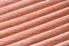 电力工业的铜丝 免版税库存图片