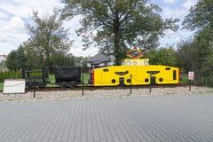 电力机车在博物馆 免版税图库摄影