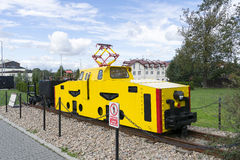 电力机车在博物馆 库存照片