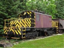 电力机车老铁路 免版税库存照片