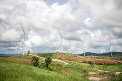 电力生产的风车 库存照片
