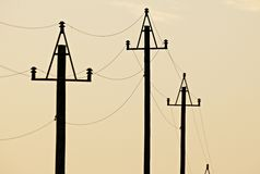 电力输送 免版税库存图片