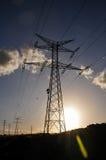 电力量定向塔 图库摄影