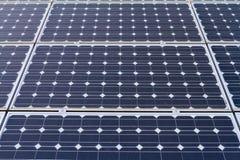 电力量的太阳电池板 免版税库存照片