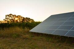电力量的太阳电池板 库存照片