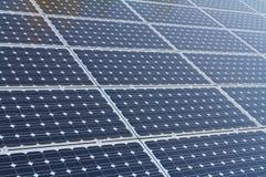 电力量的太阳电池板 库存图片