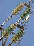 电力高装绝缘体工电压 免版税库存照片