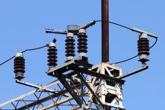 电力高装绝缘体工电压 库存图片