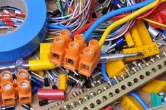 电动元件成套工具 免版税库存照片
