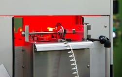 电动元件的自动化工厂植物 库存照片