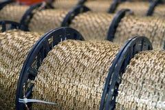 电动元件的自动化工厂植物 免版税库存照片