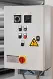 电动控制配件箱 库存照片