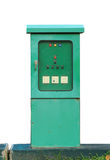 电动控制配件箱 库存图片