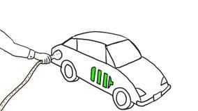 电动车充电的图画第2动画 库存例证