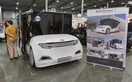 电动车插入式乌克兰第一个国际贸易展示在基辅 免版税库存图片
