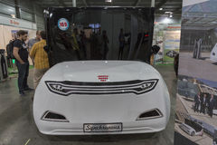 电动车插入式乌克兰第一个国际贸易展示在基辅 图库摄影