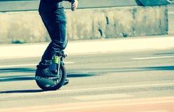 电单轮脚踏车 图库摄影