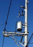 电压变压器 免版税库存照片