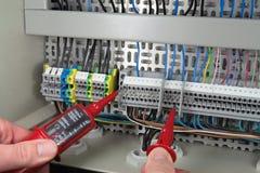 电压测量 免版税库存照片