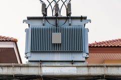 电变压器 免版税图库摄影
