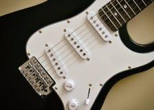 电吉他身体和脖子的部分 库存照片