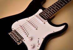 电吉他身体和脖子的部分 免版税库存照片