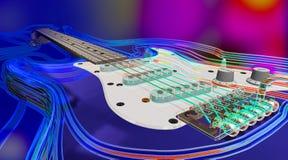 电吉他 库存例证