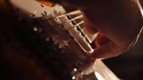 电吉他低角度阴影 股票录像