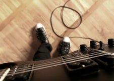 电吉他使用 免版税库存图片