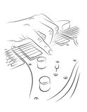 电吉他使用 免版税库存照片