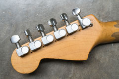 电吉他的葡萄酒条频器 免版税库存照片