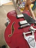 电吉他红色 免版税库存图片