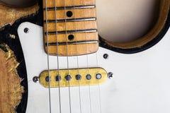 电吉他葡萄酒 免版税库存图片