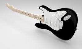 黑电吉他 免版税库存照片