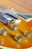 电吉他lespaul关闭 图库摄影