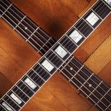 电和低音吉他脖子 库存照片