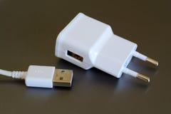 电和USB插座 免版税库存照片