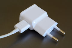电和USB插座 库存照片
